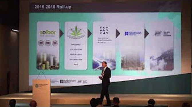 Nir Peles presents at the World Cannabis Forum, Nov 2018, Malta
